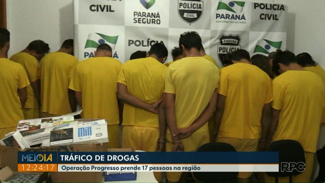 Operação da Polícia Civil prende 17 pessoas por tráfico de drogas