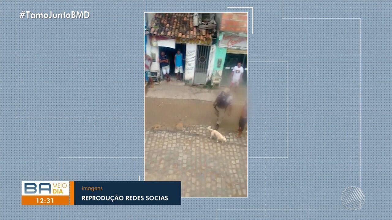 Moradores registram truculência de policial militar em Itacaré