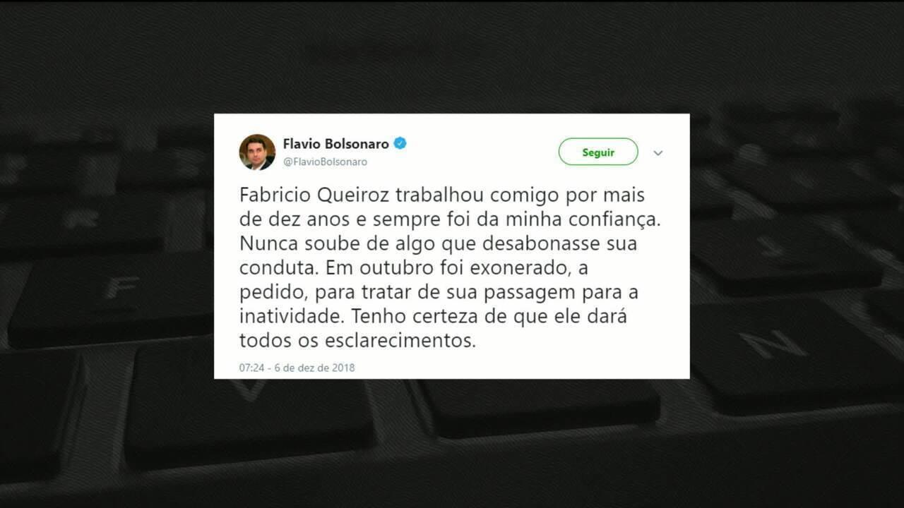 Coaf aponta movimentação financeira suspeita de ex-motorista de Flávio Bolsonaro