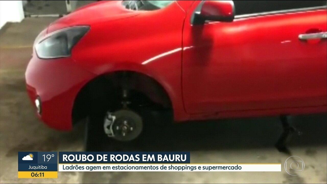 Roubo de rodas são frequentes em Bauru