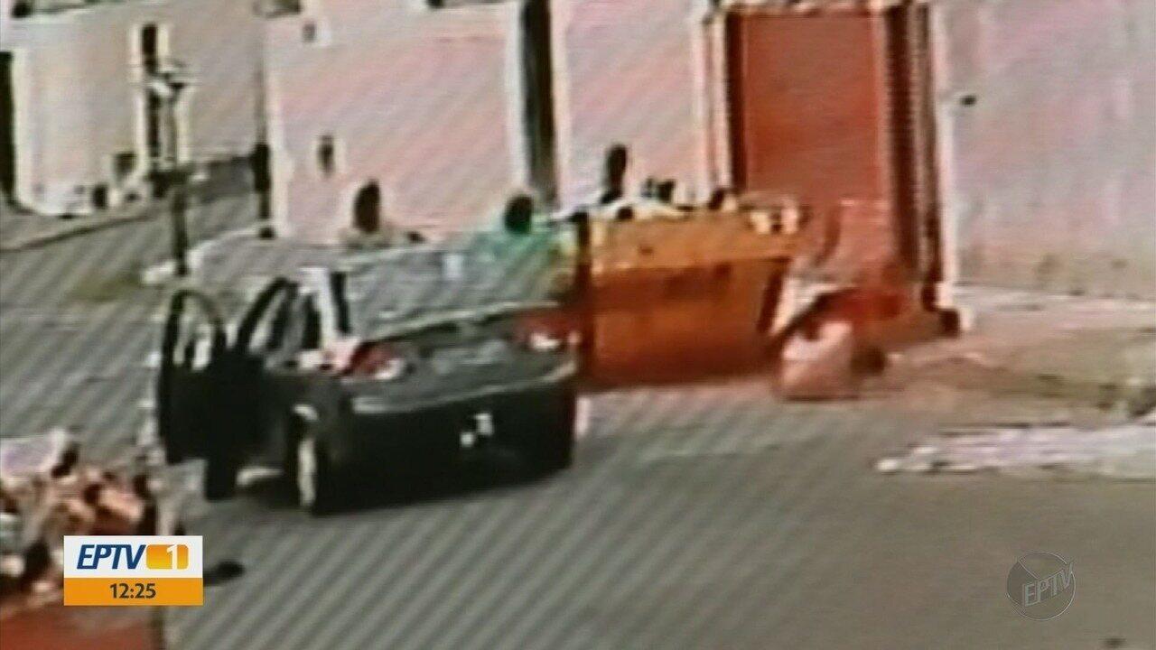 Câmeras registram momento em que homem é baleado por policial civil em Passos, MG