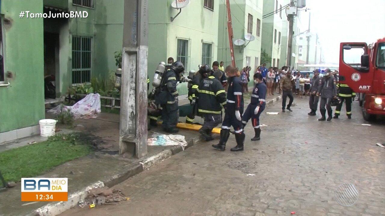 Quarta vítima de incêndio em Feira de Santana morre em Salvador