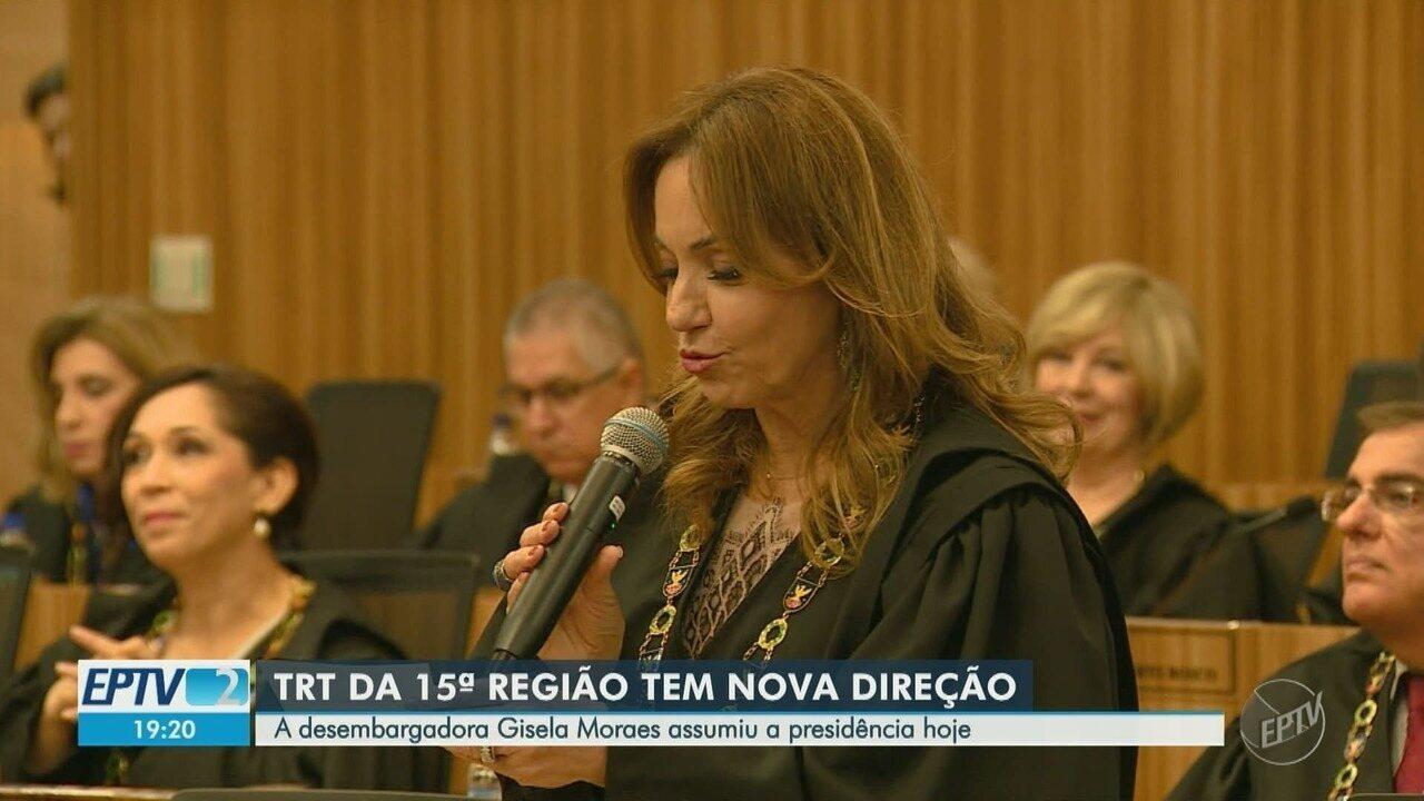 Desembargadora Gisela Moraes assume presidência do TRT