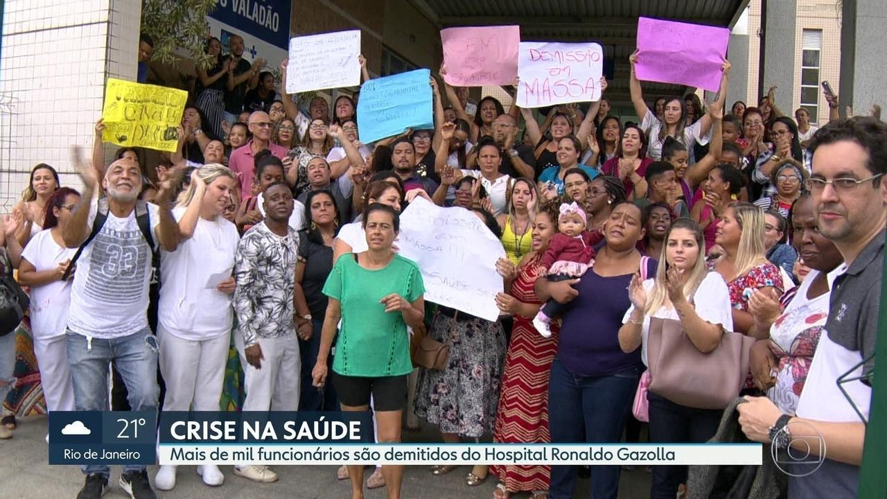 Crise na Saúde: mais de mil funcionários do hospital Ronaldo Gazolla são demitidos