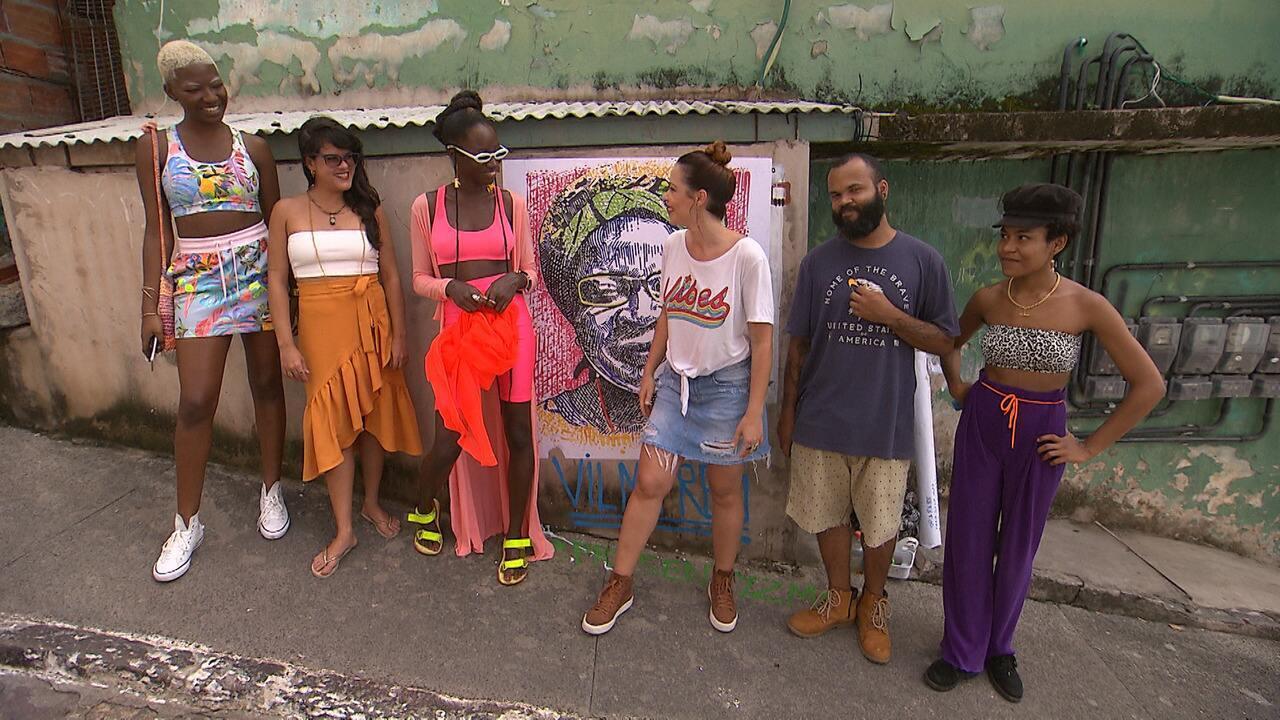 Briza acompanha uma instalação artística da Virada Sustentável de Salvador