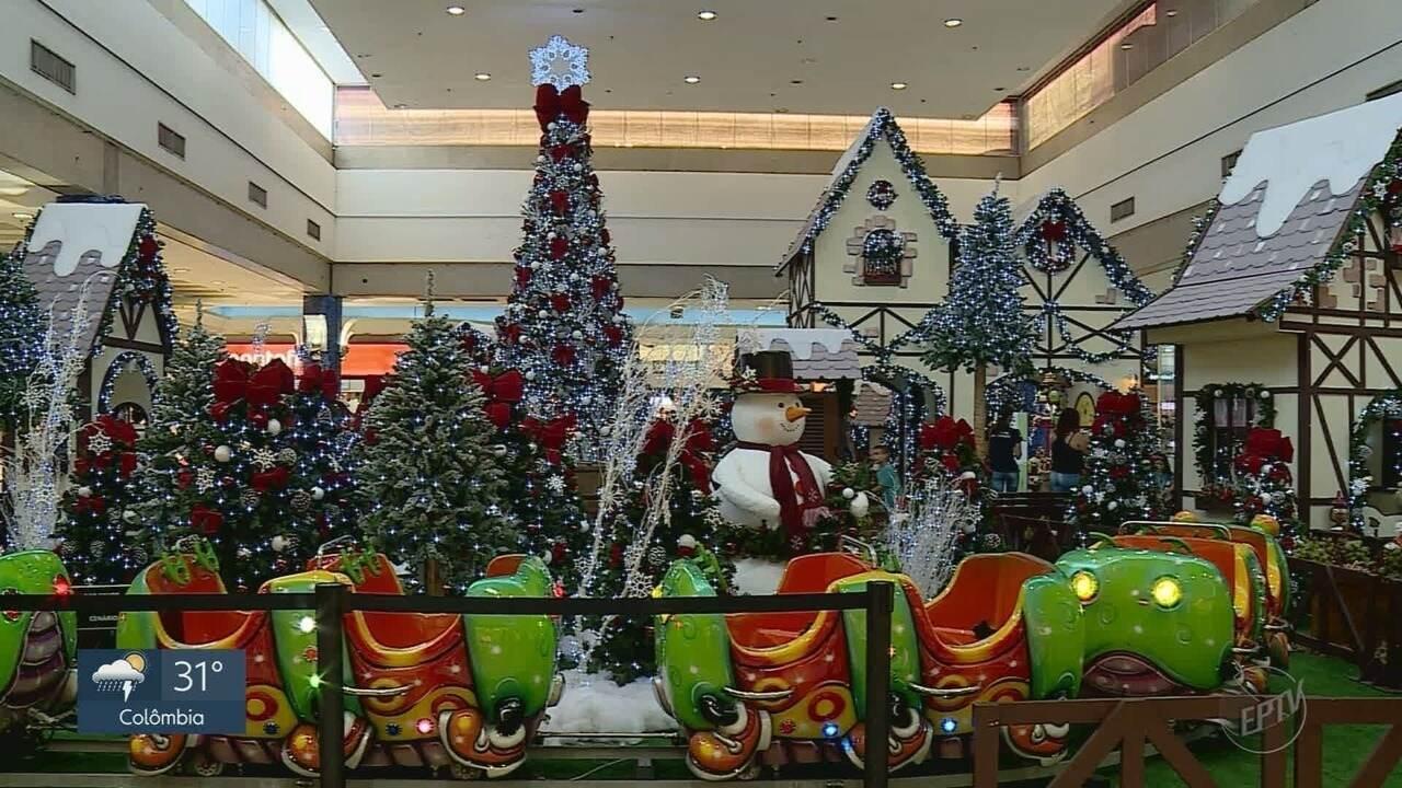 Confira a decoração de Natal do Novo Shopping em Ribeirão Preto