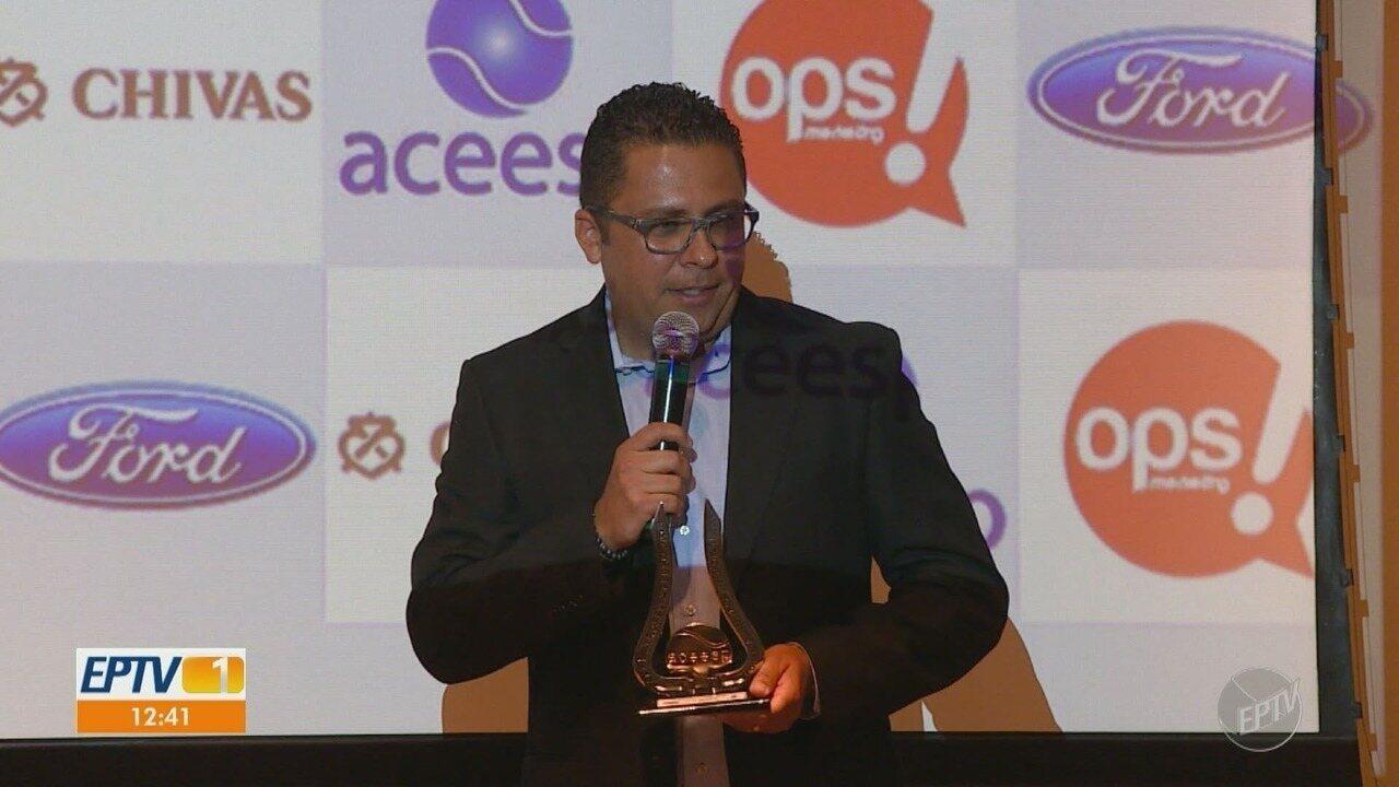 Equipe de esporte da EPTV ganha prêmio Aceesp de melhor TV do interior