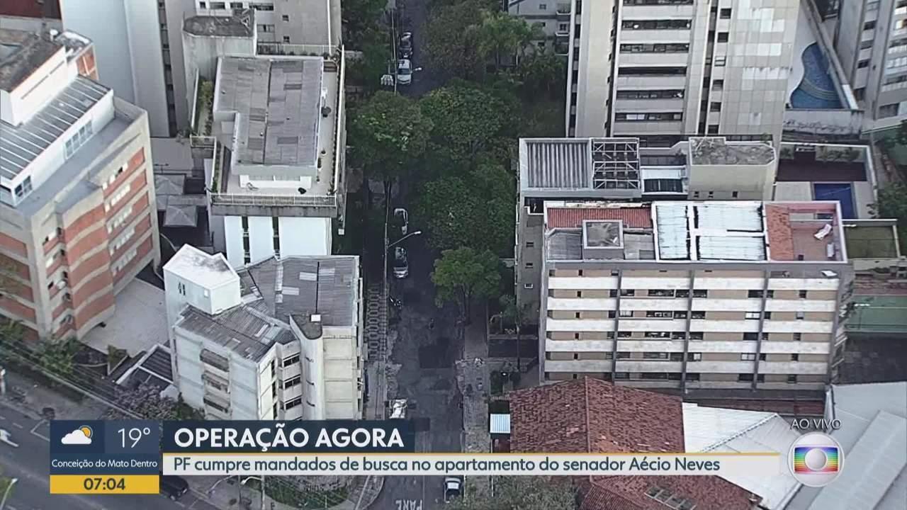 PF cumpre mandados de busca e apreensão contra Aécio Neves e irmã em MG