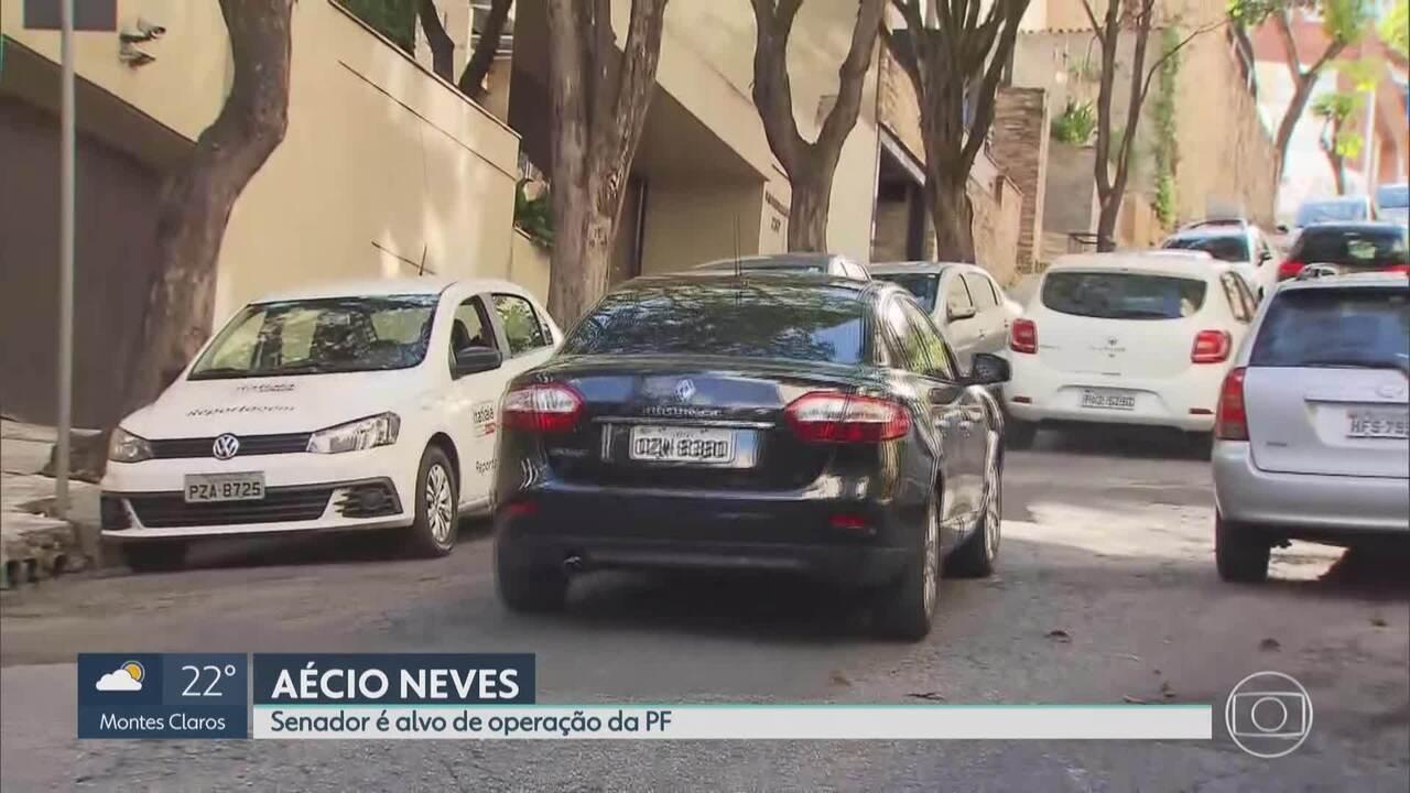 Agentes da PF apreendem documentos no apartamento de Aécio Neves