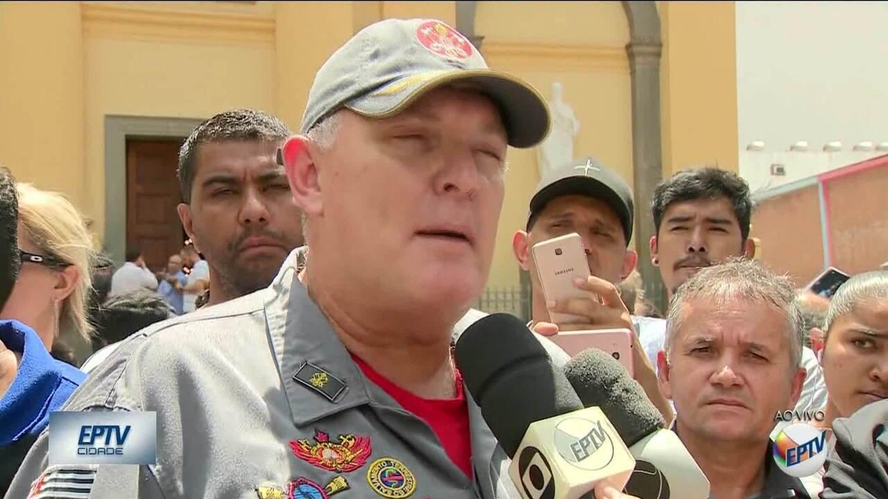 Quatro feridos em tiroteio no centro de Campinas (SP) não correm risco, segundo bombeiros.
