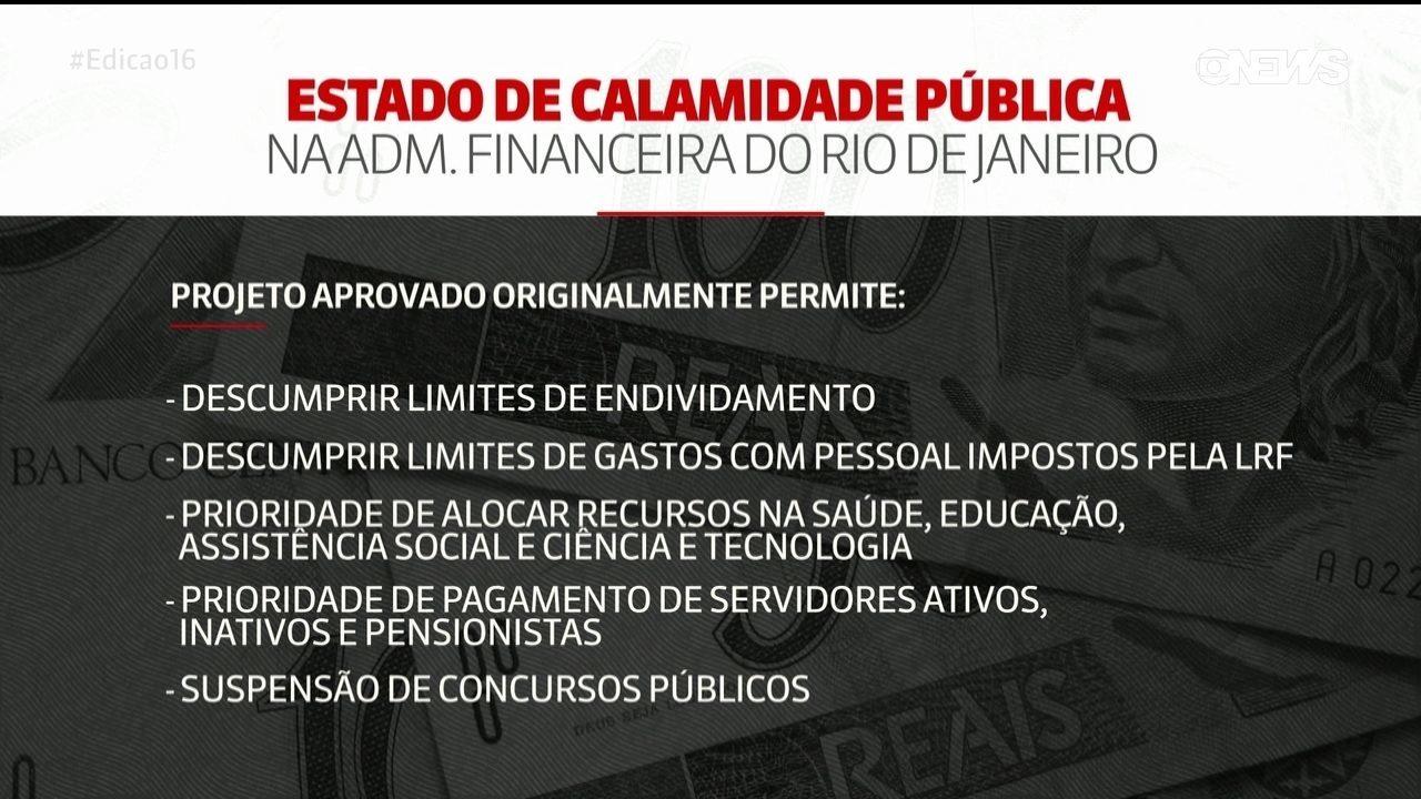 Alerj vota prorrogação do estado de calamidade pública na administração financeira