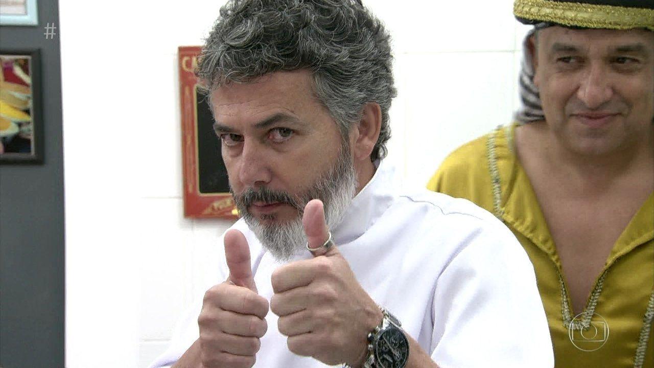 Confira a opinião do chef sobre o prato de Luciano