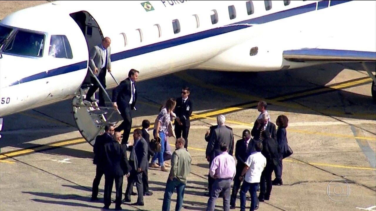 O presidente eleito, Jair Bolsonaro, viajou para São Paulo