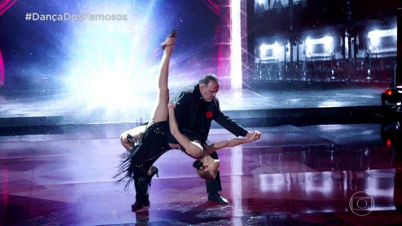 Leo Jaime se apresenta no tango na final do 'Dança dos Famosos'