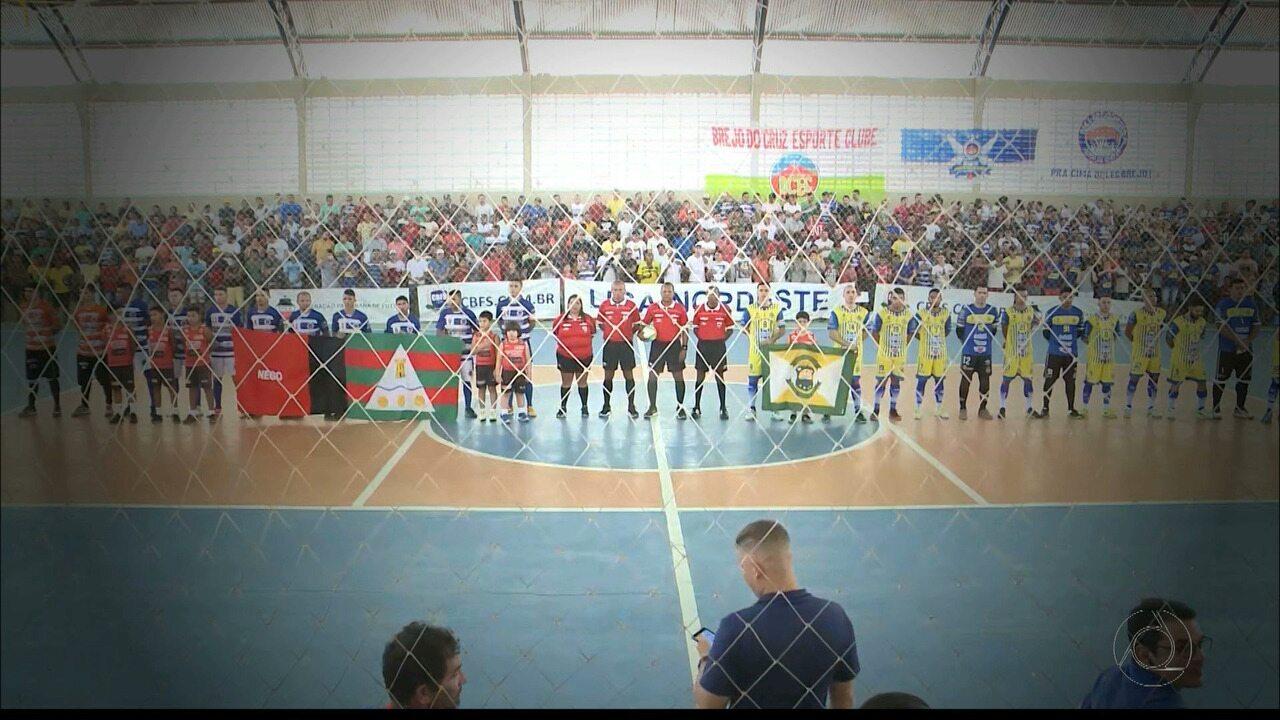 Confira como o Brejo do Cruz bateu o Tamandaré-PE e se tornou campeão da Liga NE de Futsal