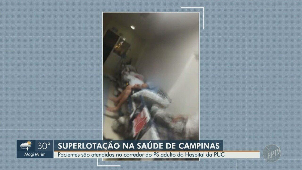 Pacientes são atendidos em corredores do Hospital da PUC
