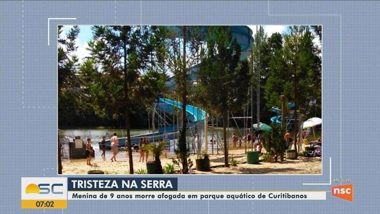 Menina de 9 anos morre afogada em parque aquático