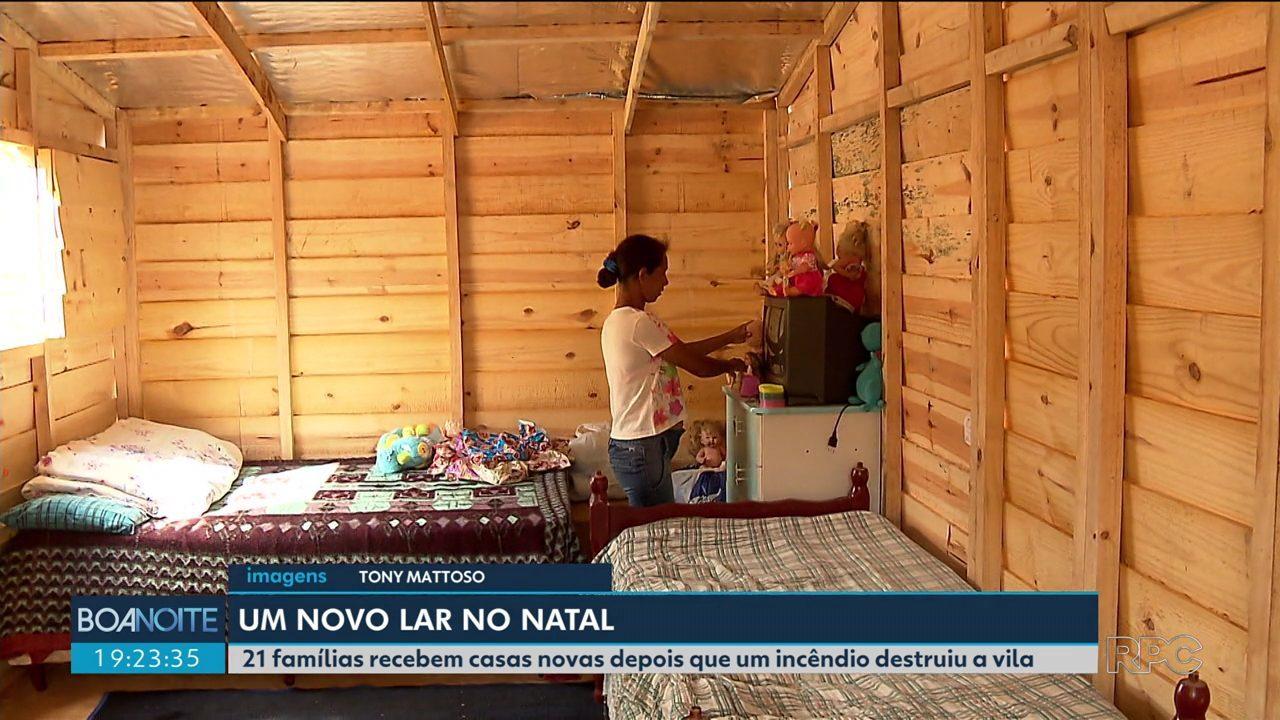 O dia foi de recomeço para moradores da comunidade 29 de março, na Vila Corbélia