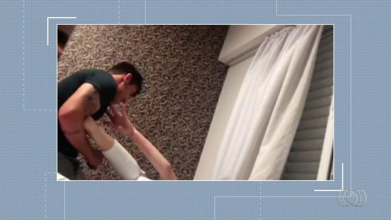Advogada filma agressões sofridas por namorado, em Goiânia