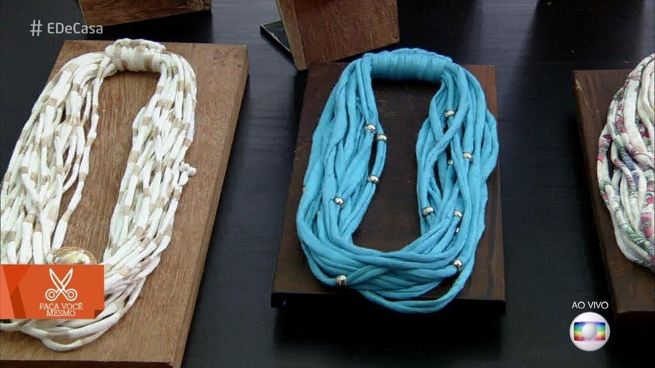 Aprenda a fazer colares com fio de malha