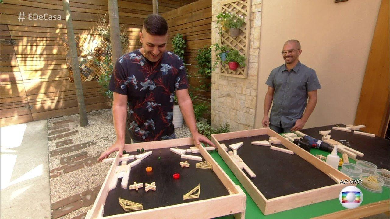 Aprenda a fazer uma mesa de pinball de madeira