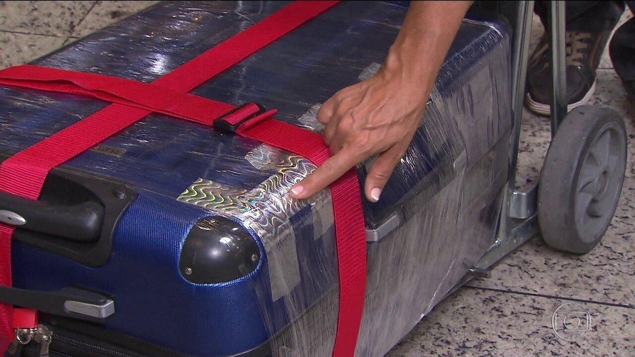 Aumentou número de queixas de furtos, danos e extravio de bagagens de avião