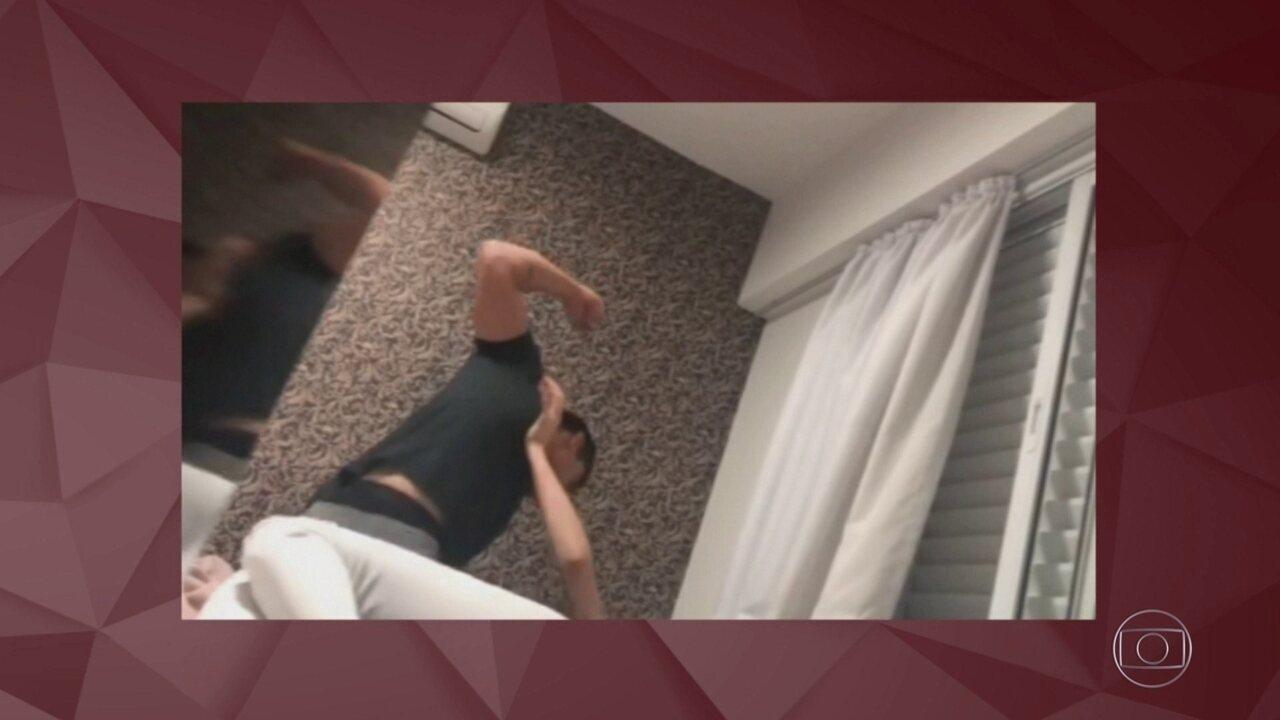 Jovem que gravou agressão do namorado relembra briga: 'Você não consegue acreditar'