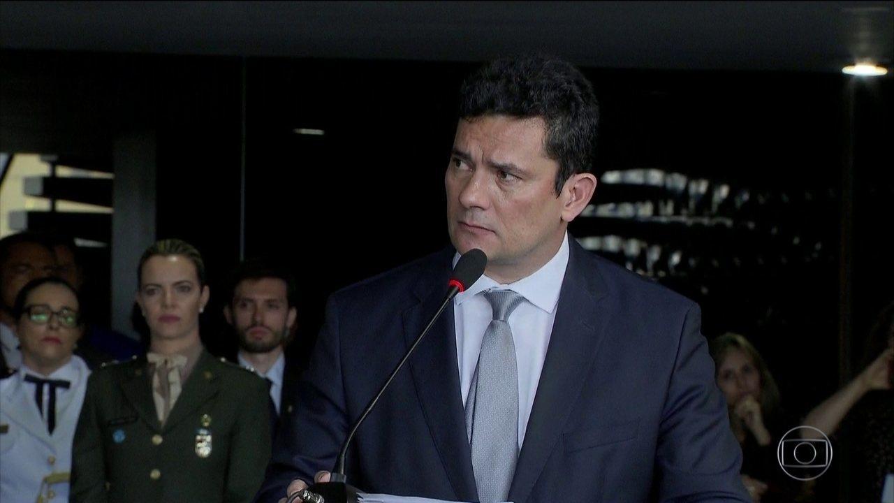 """""""Brasil não será um porto seguro para criminosos"""", diz Sérgio Moro"""