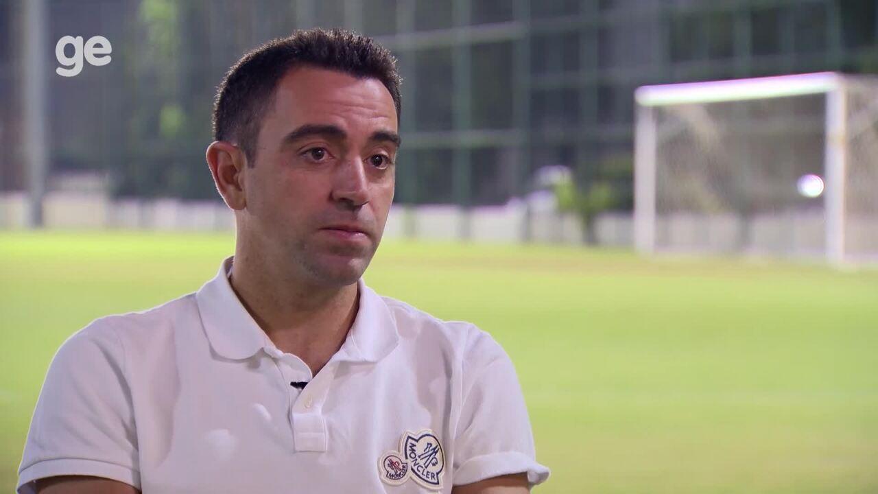 85ae2c3cc6 Xavi fala de desafios da carreira de treinador e relembra trajetória pelo  Barça