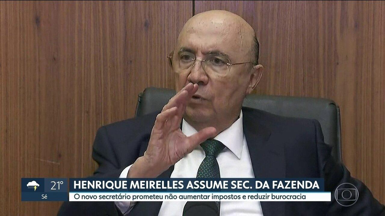 Henrique Meirelles assume Secretaria da Fazenda e Planejamento