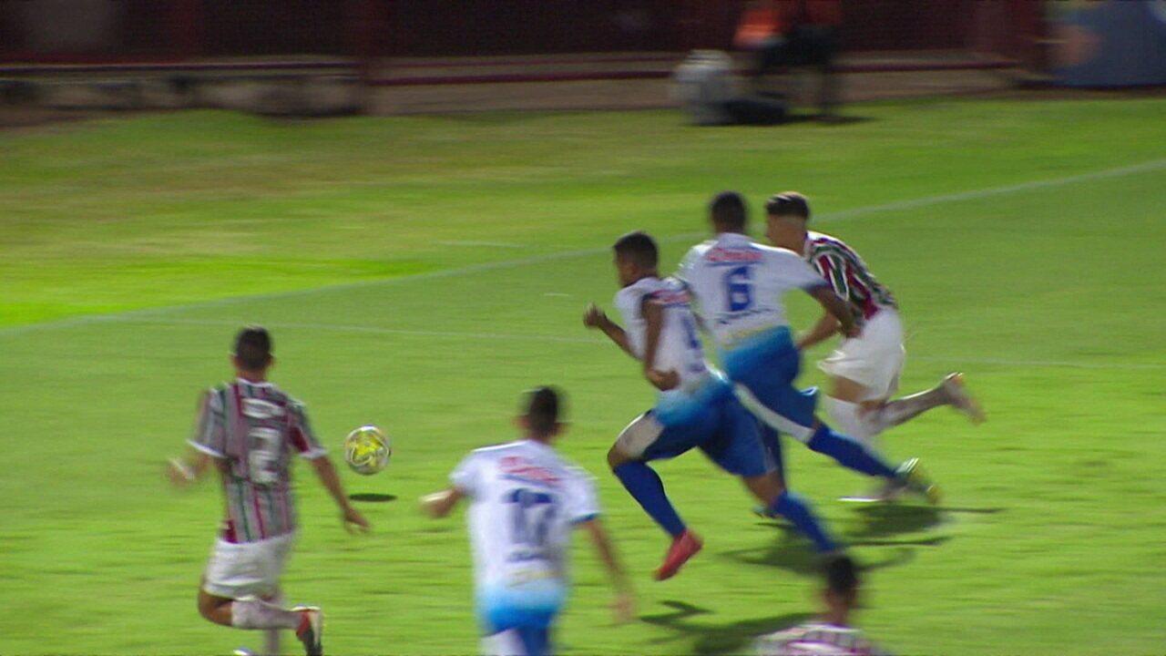 2a15b78fbe Melhores momentos de Fluminense 7 x 0 Parnahyba pela Copa SP de Futebol  Júnior 2019