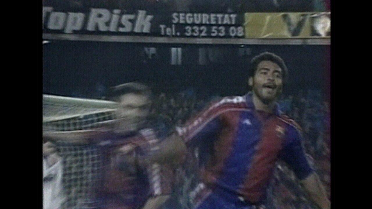 Há 25 anos, Romário participou da goleada do Barcelona contra o Real Madrid