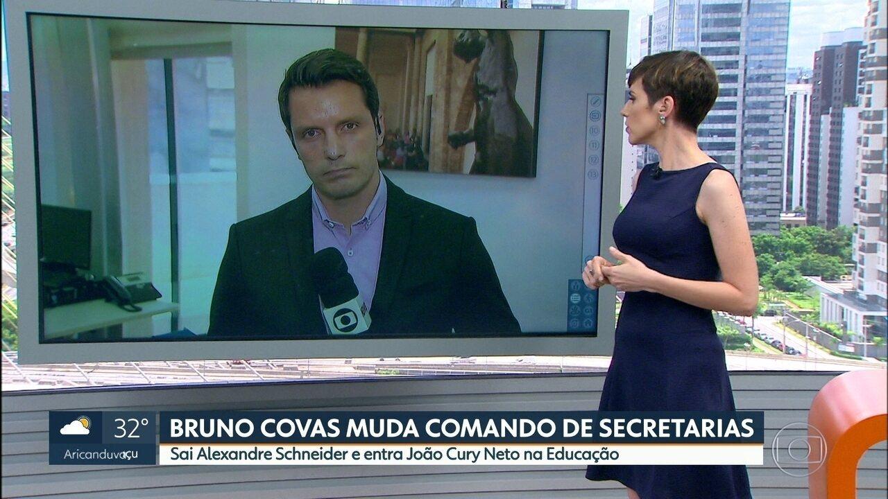 Bruno Covas troca comandos de várias secretarias