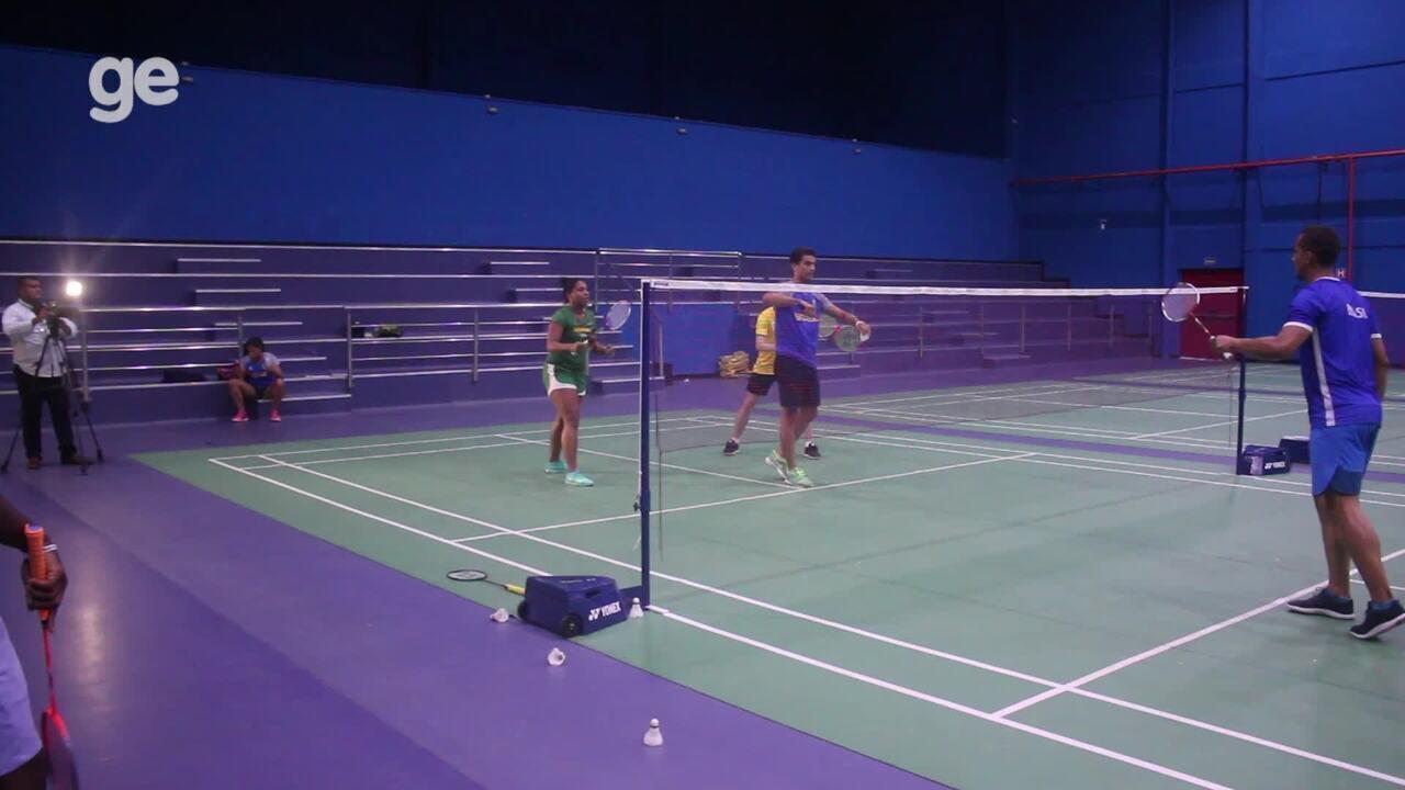 Seleção brasileira de badminton treina no Piauí