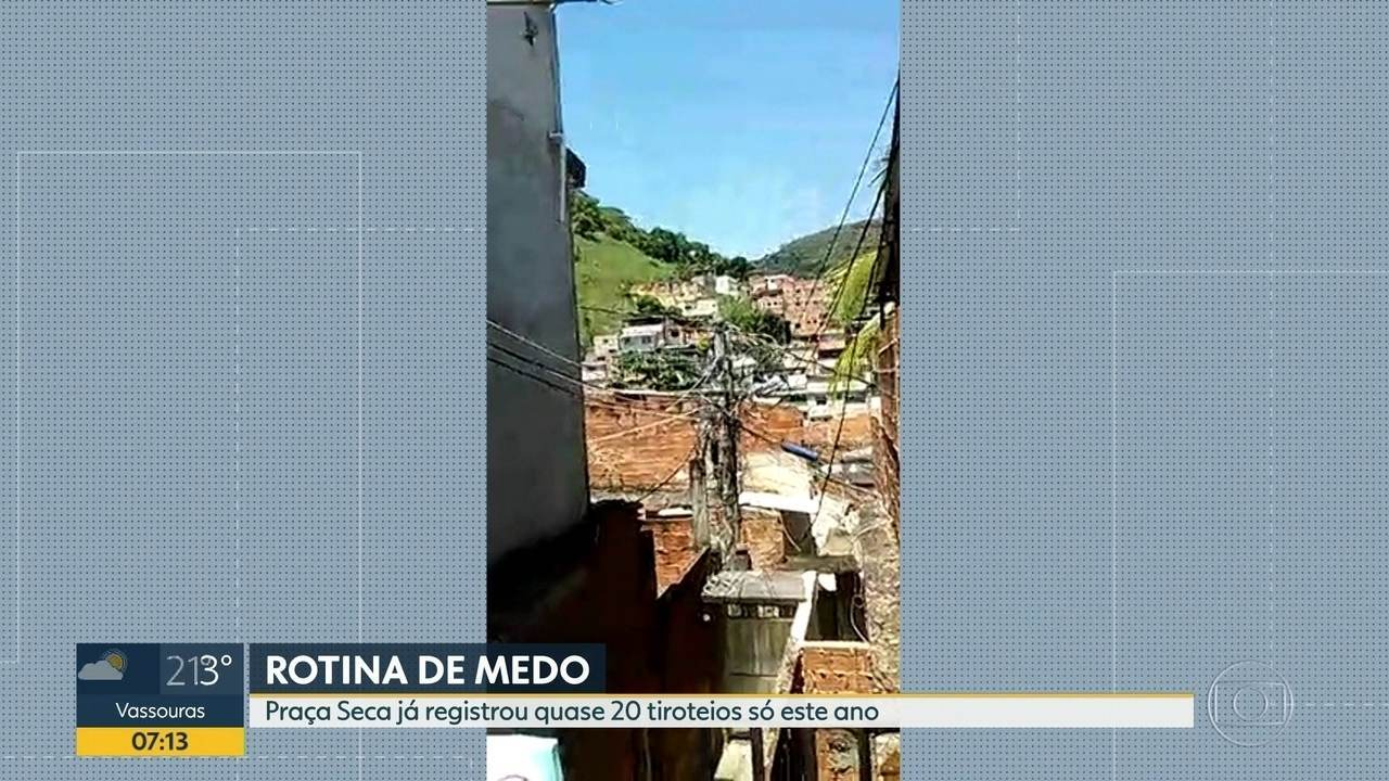 Praça Seca é o bairro com maior registro de tiroteios do Rio