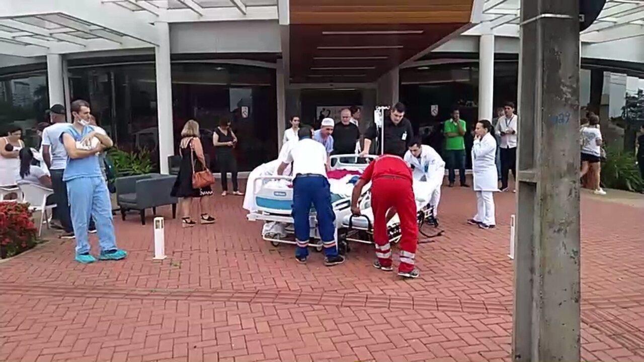 Pacientes são transferidos após princípio de incêndio em hospital de Londrina