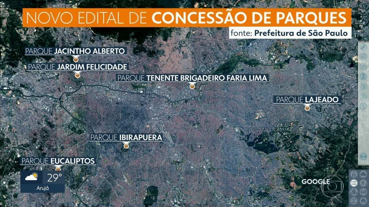 Prefeitura publica novo edital de concessão do Ibirapuera e mais 5 parques