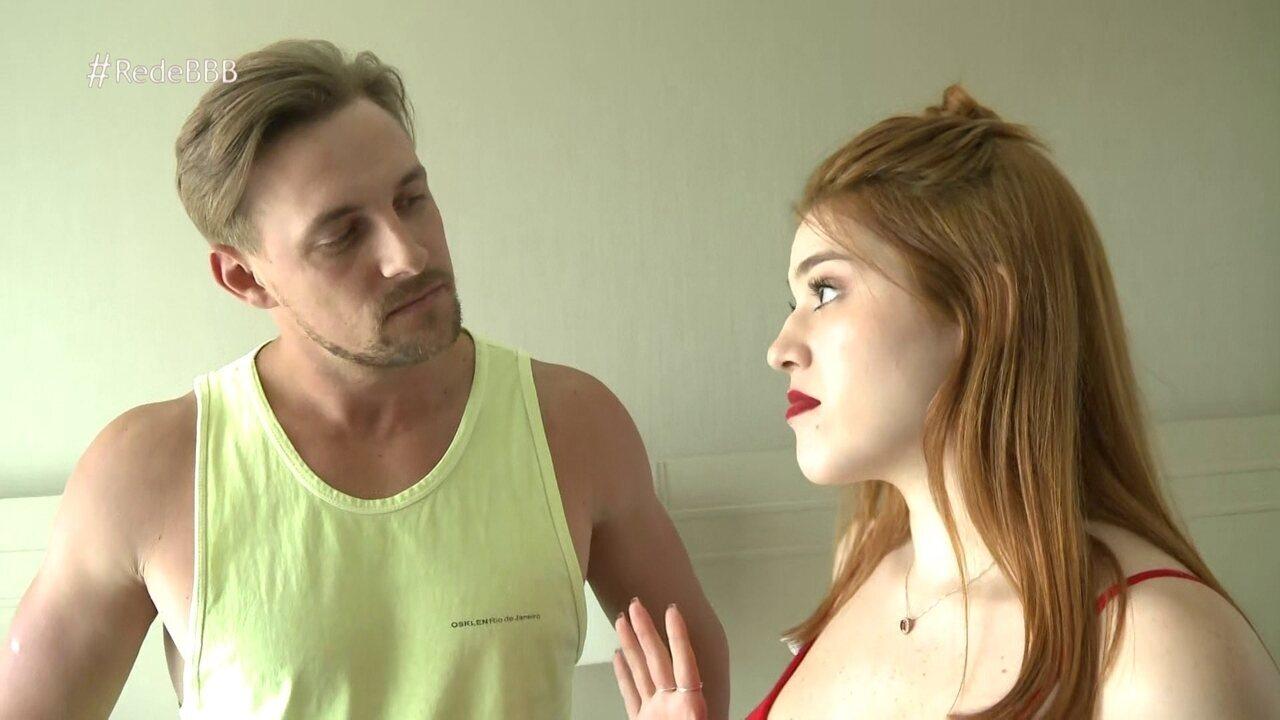 Diego conta para Ana Clara que é uma pessoa simples e acredita que vai se dar bem com todo mundo