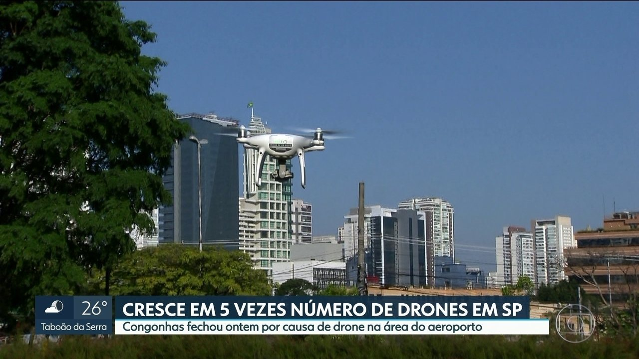 Em 18 meses, cresce em 5 vezes o número de drones em São Paulo