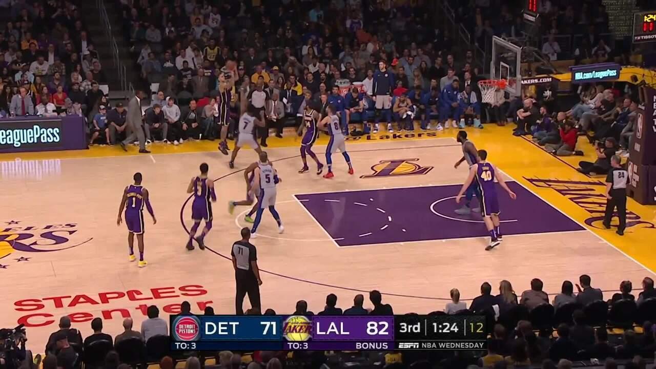 Melhores momentos: Lakers 113 x 100 Pistons pela NBA