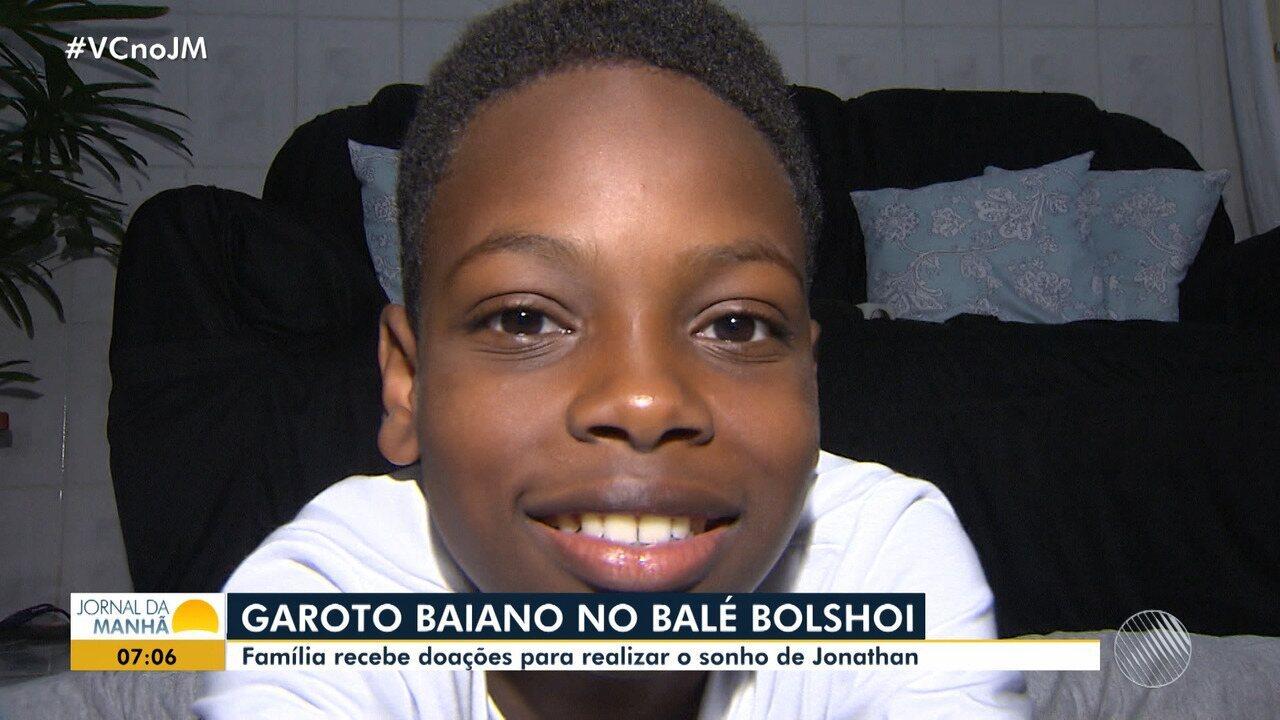 Família faz campanha para financiar estudos no Balé Bolshoi para menino baiano