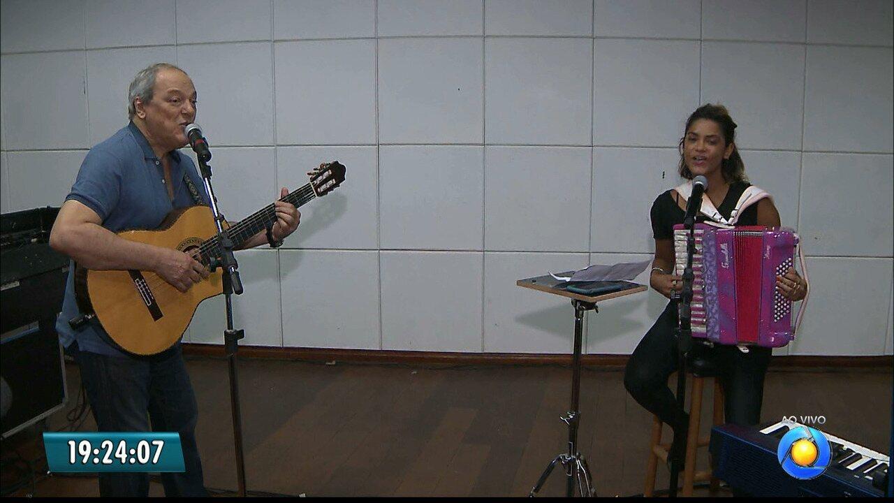 JPB2JP: Toquinho e Lucy ensaiam para show em João Pessoa