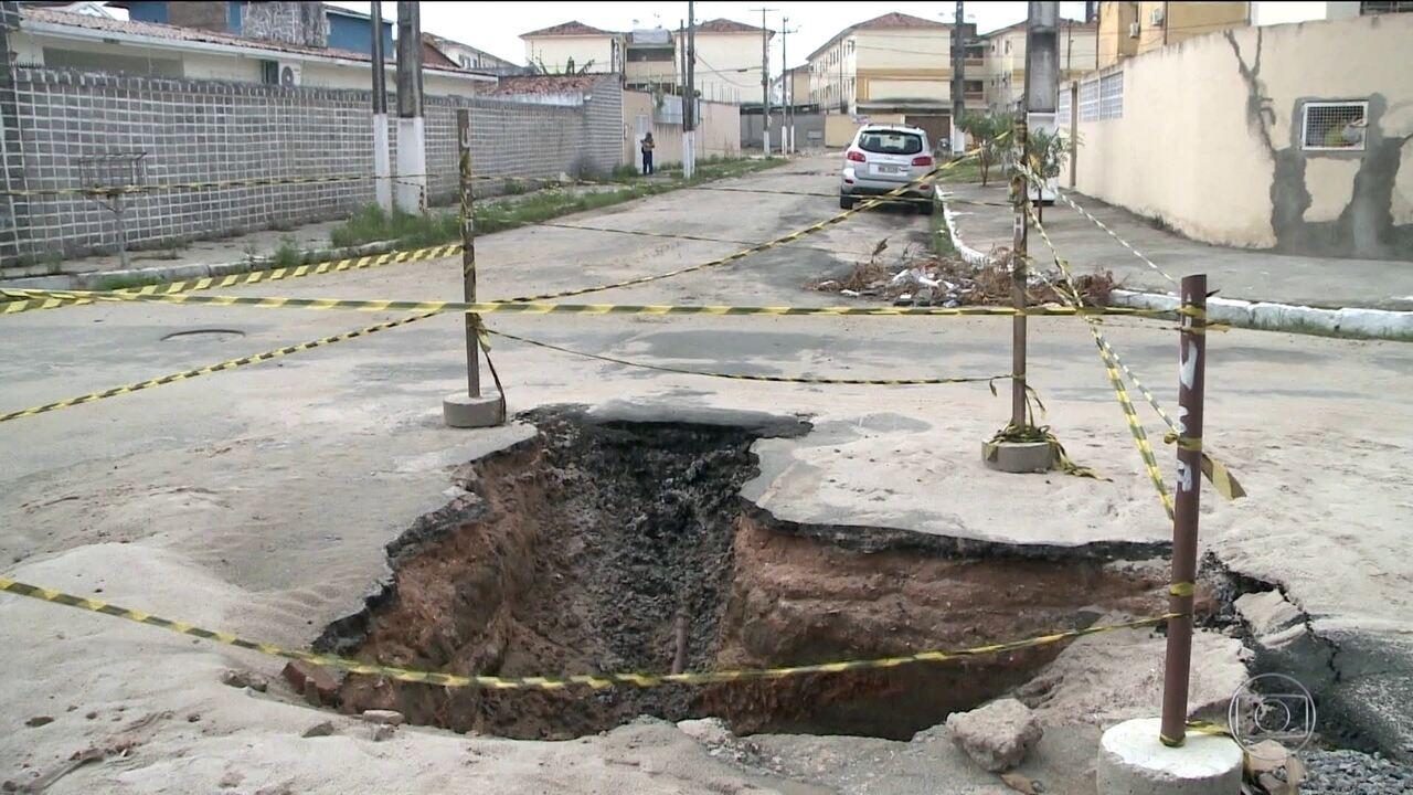 Serviço Geológico do Brasil recomenda plano de emergência para bairro que afunda em Maceió