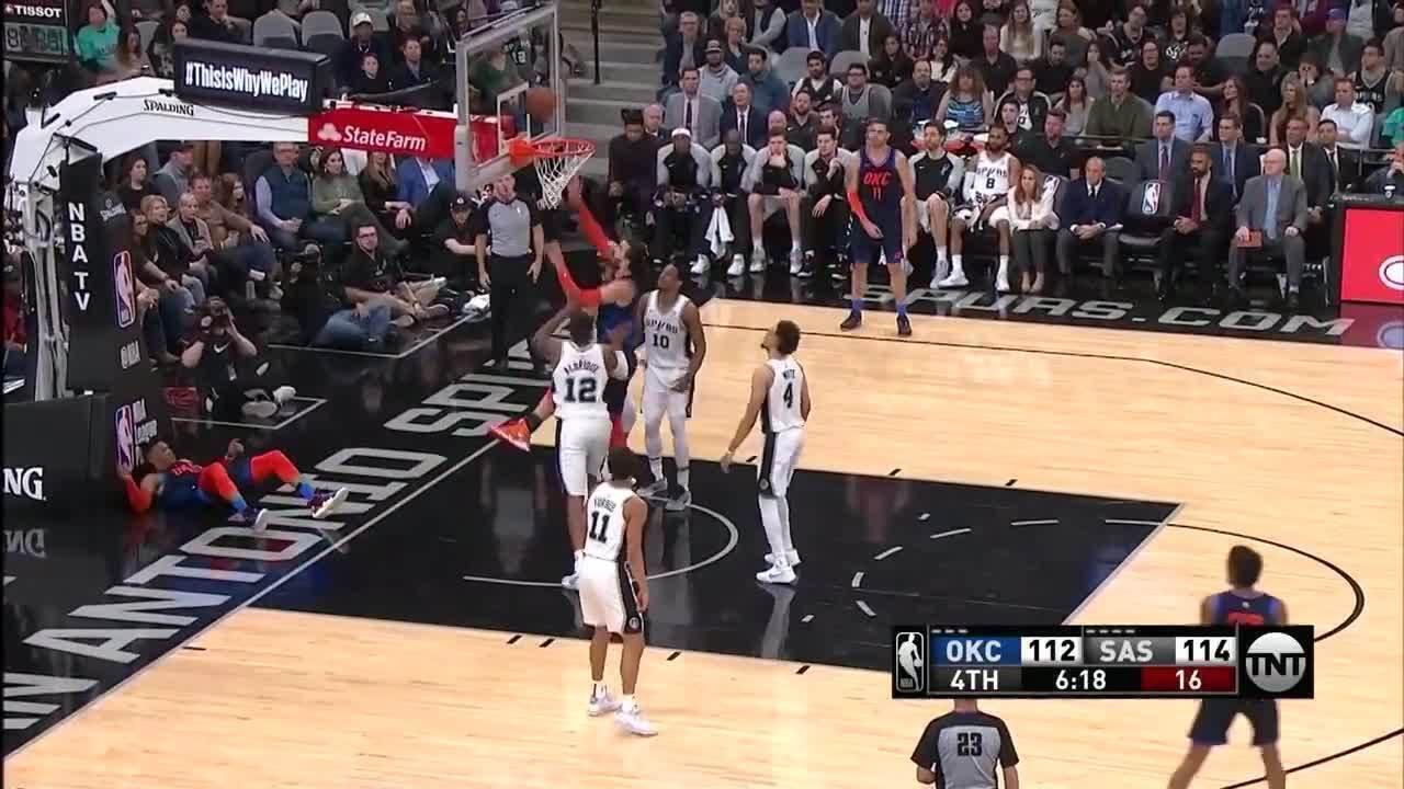Melhores momentos: Oklahoma City Thunder 147 x 154 San Antonio Spurs pela NBA