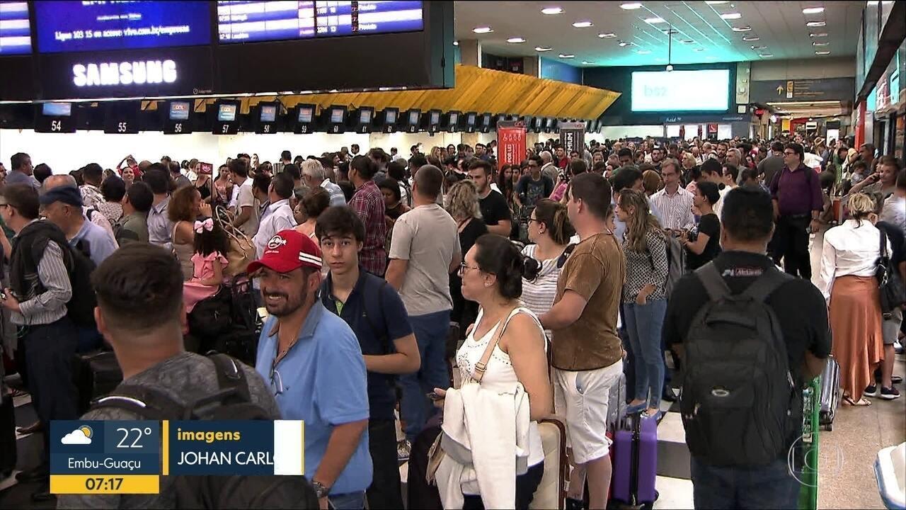 Caos em Congonhas, 23 voos foram cancelados por causa da chuva