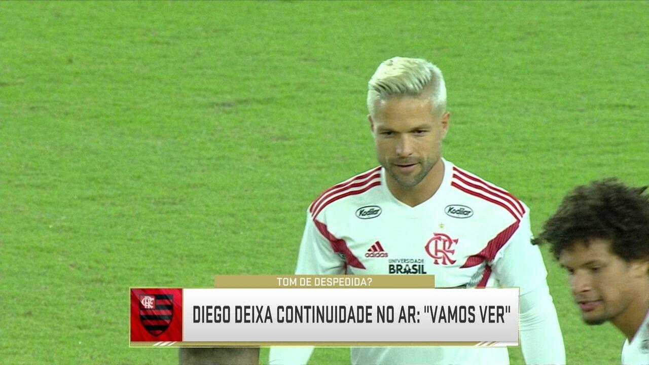 Analistas debatem se Diego fica ou não no Flamengo