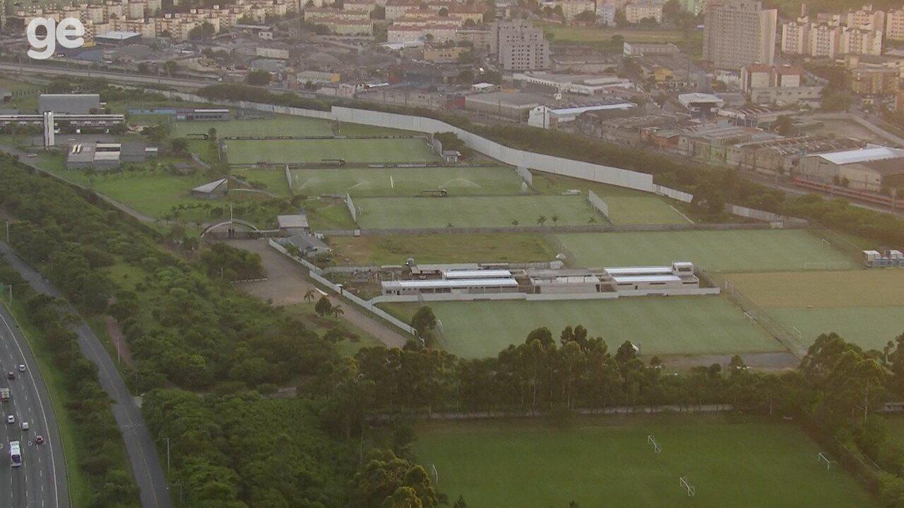 Imagens aéreas de 2019 mostram CT da base do Corinthians