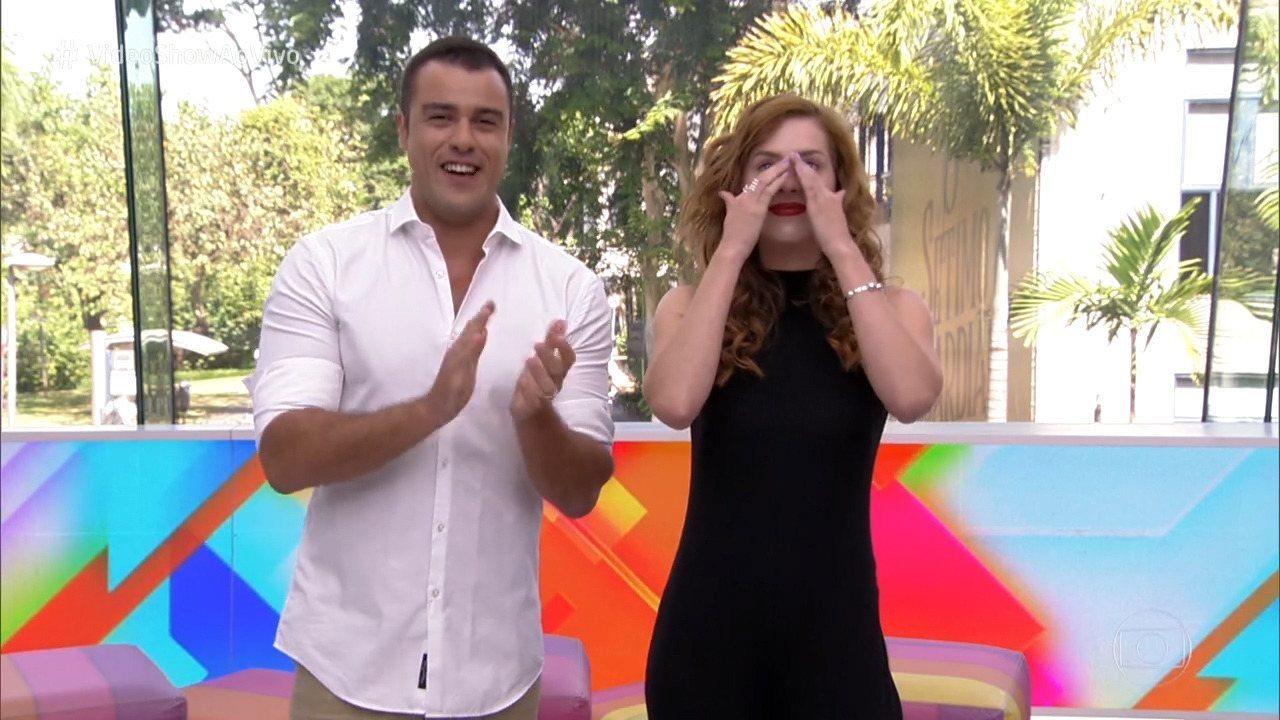 Joaquim Lopes e Sophia Abrahão se emocionam em último programa na TV
