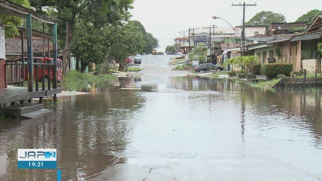 Defesa Civil aponta 31 pontos críticos de alagamentos em Macapá por causa das chuvas