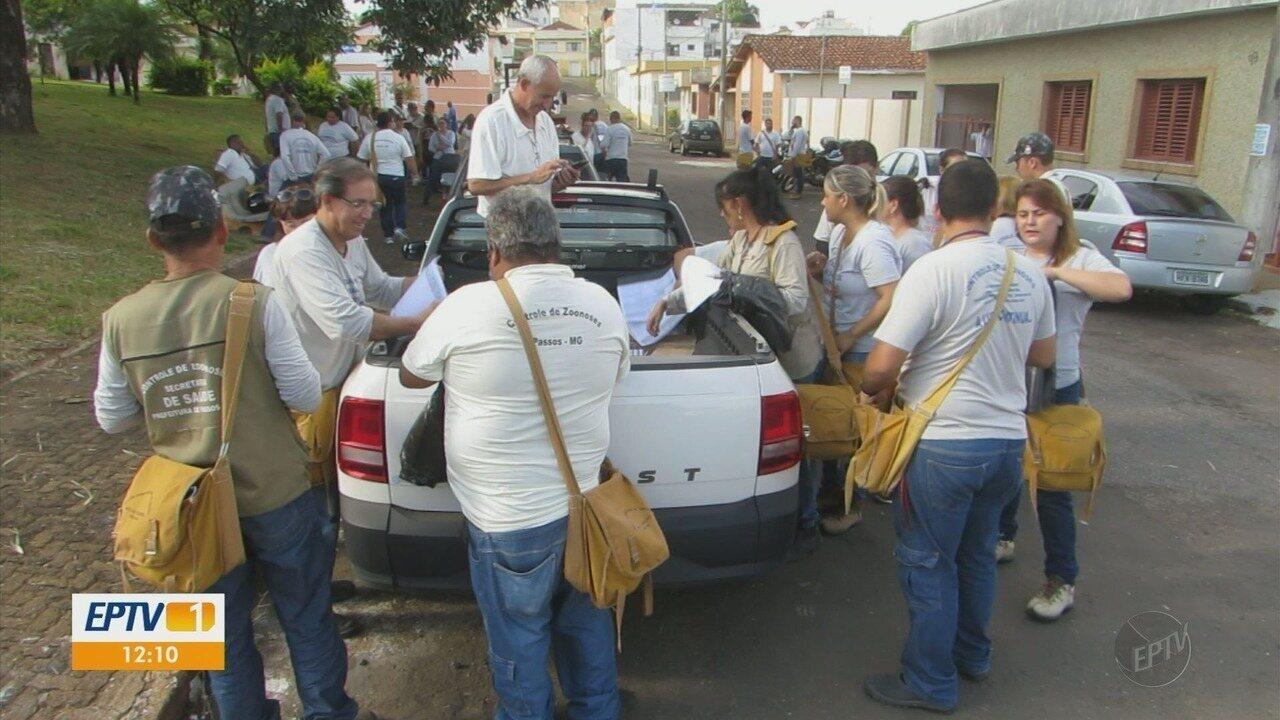 Mutirão de combate à dengue reúne agentes de saúde em Passos, MG